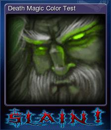 Death Magic Color Test