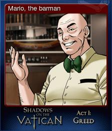 Mario, the barman
