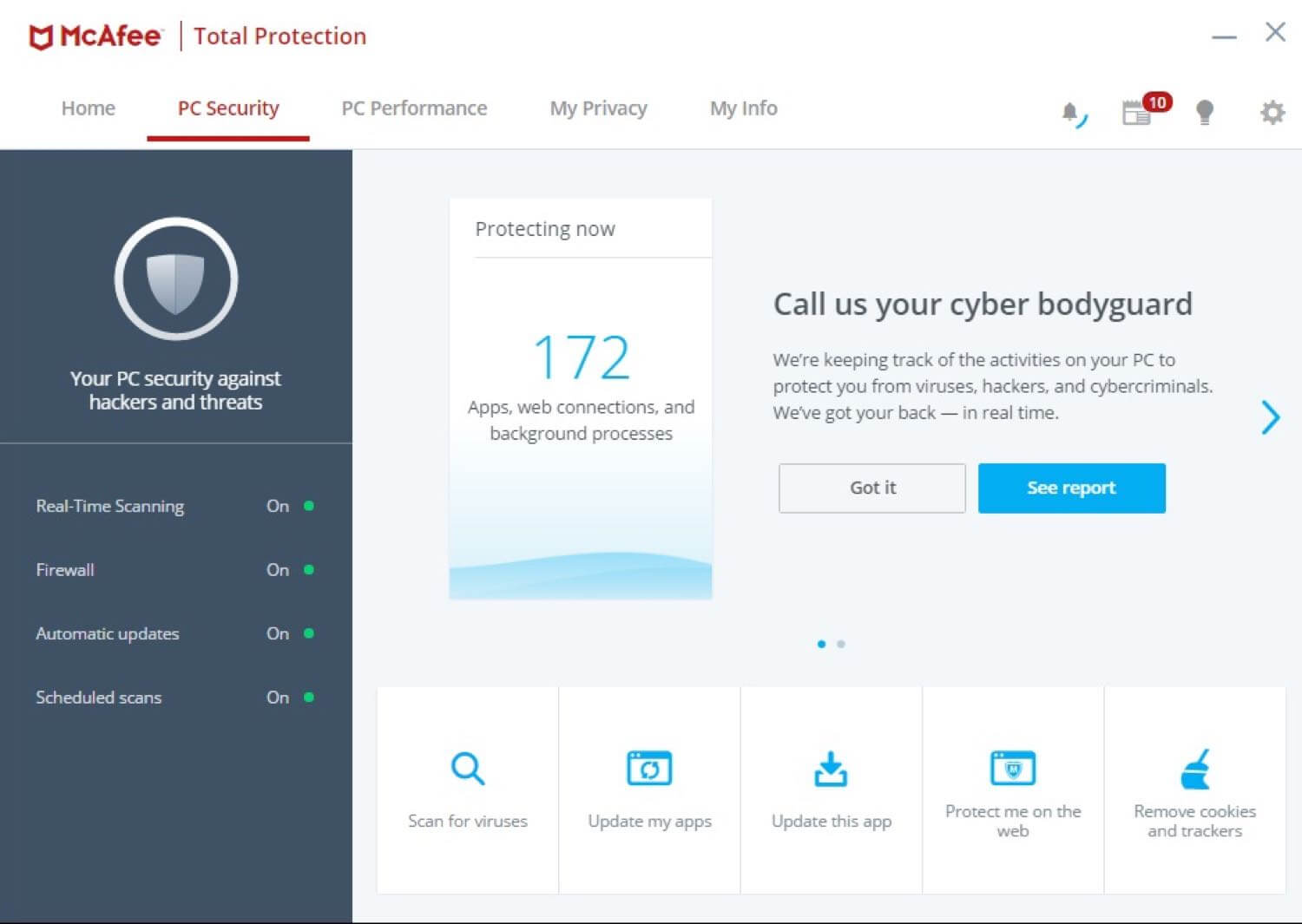 McAfee Total Protection 2019 (1 Yr / 10 Devices) | Official