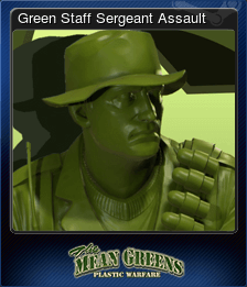 Green Staff Sergeant Assault