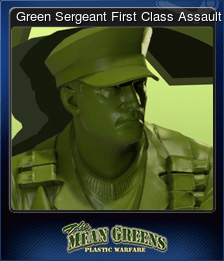 Green Sergeant First Class Assault